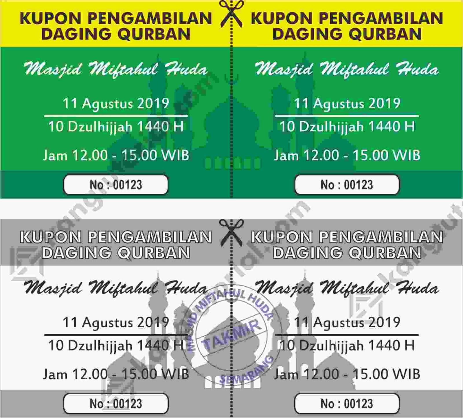 Desain Spanduk: Download Contoh Desain Kupon Qurban 2019 Format CDR
