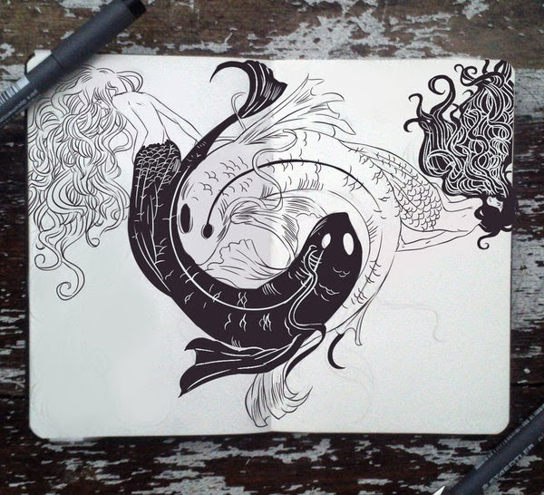 20-Yin-Yang-Twins-Gabriel-Picolo-365-Days-of-Doodles-www-designstack-co