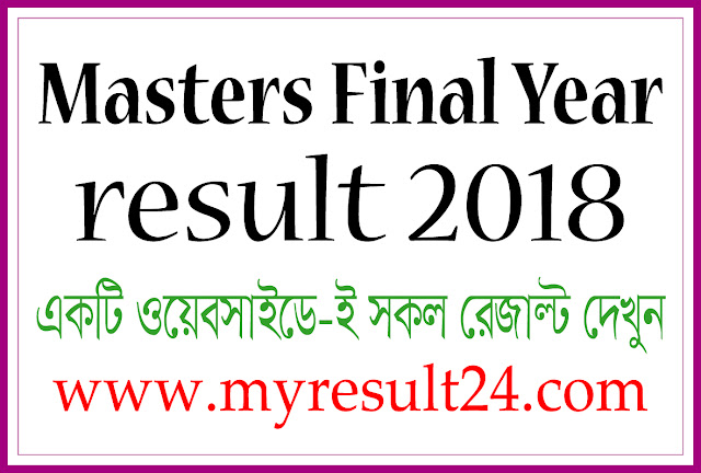 Masters Final Year Result 2018