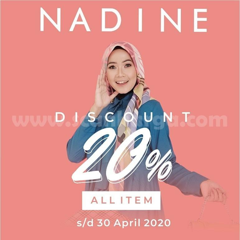 Promo Nadine Fashion Diskon 20 All Item Hingga 30 April 2020 Scanharga