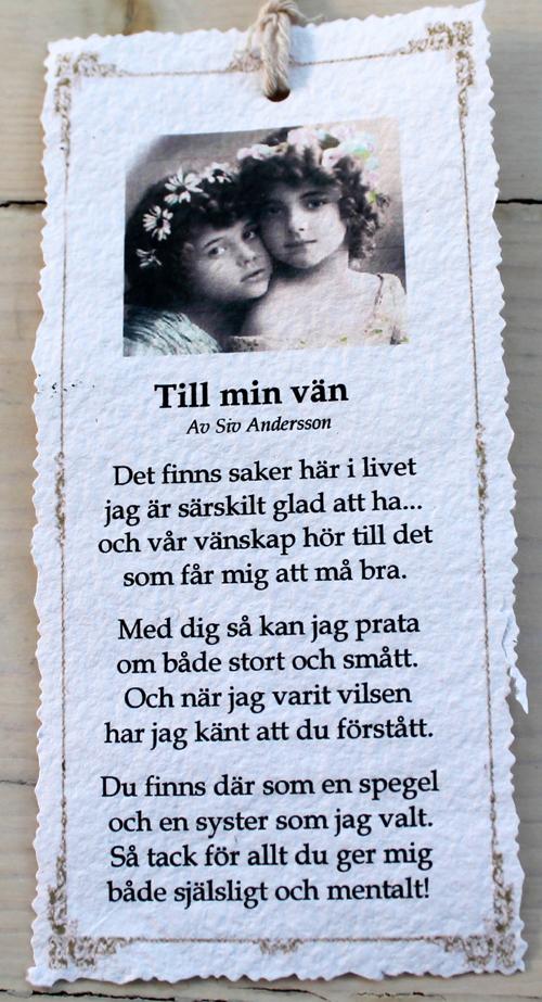 grattis dikt till vän Annas idéer: januari 2013 grattis dikt till vän