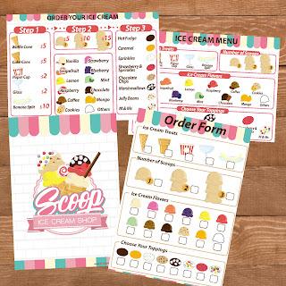 和小朋友在家開一間雪糕店 角色扮演 Playing ice cream shops with FREE Printable Total 48 Pages #MamaLovePrint