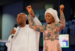 """""""Death came to seize her in 2004 but Jesus stepped in to destroy the devil"""" - Bishop Oyedepo celebrates wife at 60"""