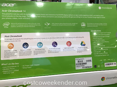 Costco 1159145 - Acer Chromebook 14: practical and inexpensive