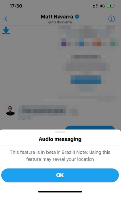Twitter's Testing Audio Clips in DMs with Users in Brazil