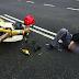 Penunggang motosikal patah kaki gara-gara pemandu Persona buat U-Turn secara tiba-tiba