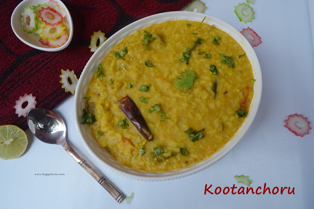 Kootanchoru Recipe | Rice with lentils and Mixed Vegetables