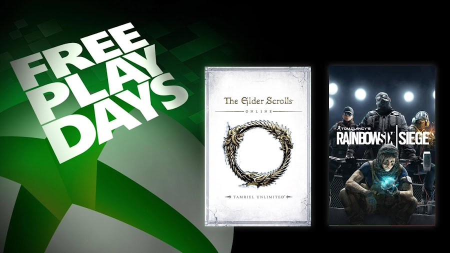 elder scrolls online rainbow six siege xbox live gold free play days event