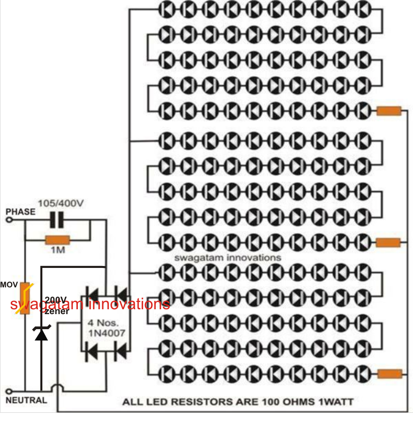 solved problem with 230v led driver circuit