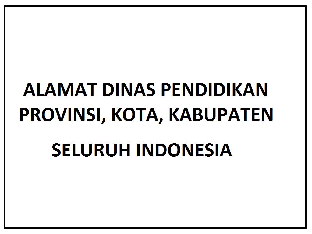 alamat dinas pendidikan