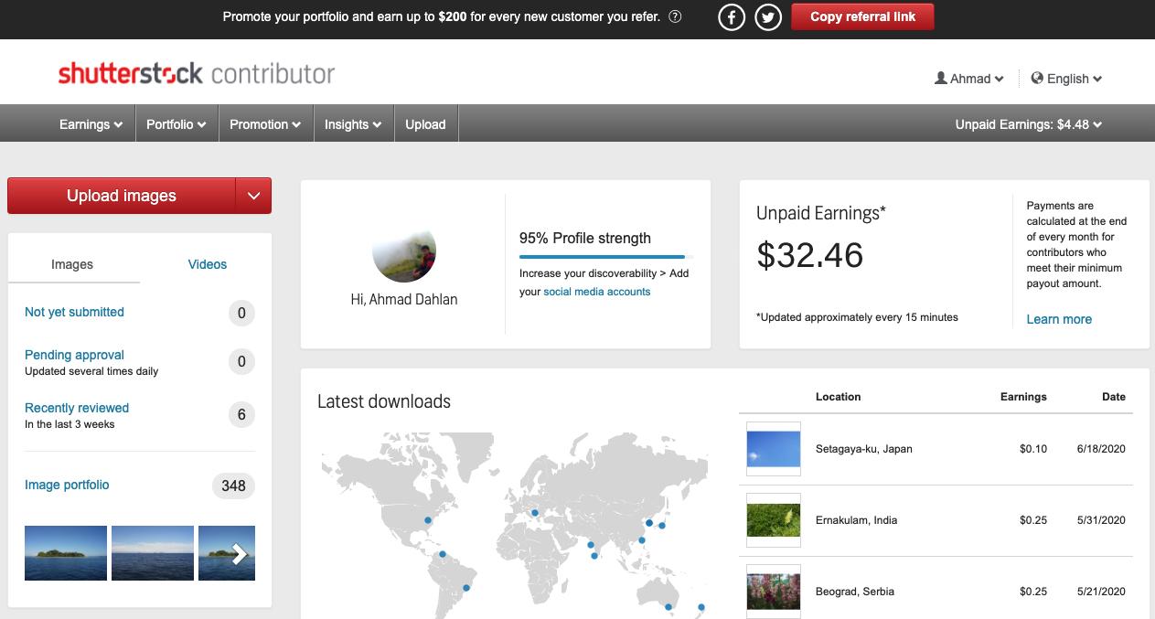 Shutterstock adalah salah satu Microstock tempat jita bisa jual foto yang dipotret dari Handphone maupun Kamera Digital