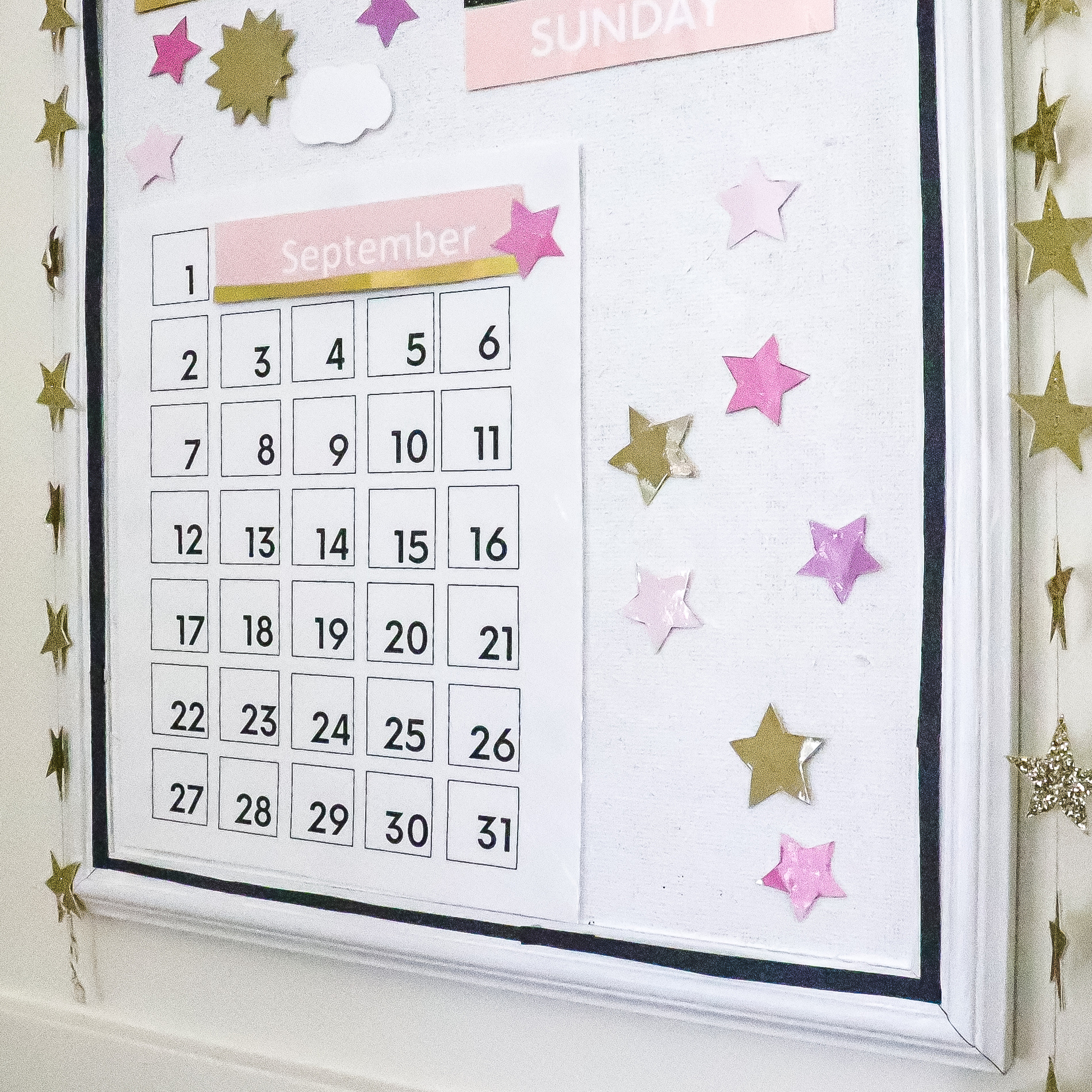 DIY preschool calendar