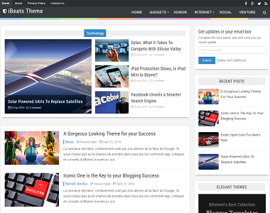 iBeats is a premium style blogging blogger template with featured post.
