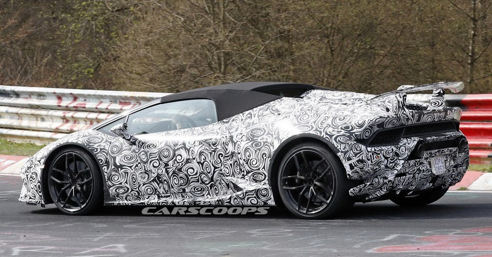 open top lamborghini huracan performante spied screaming around the ring. Black Bedroom Furniture Sets. Home Design Ideas