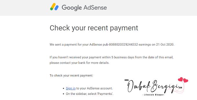 Cash Out Kali Pertama Google Adsense.