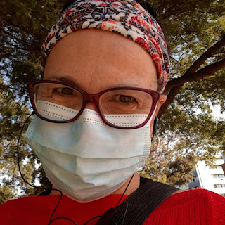 Rita Branco com máscara