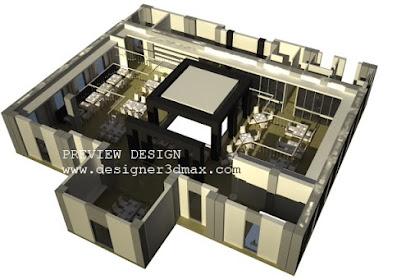 Jasa design 3dmax resto axonometric murah berpengalaman