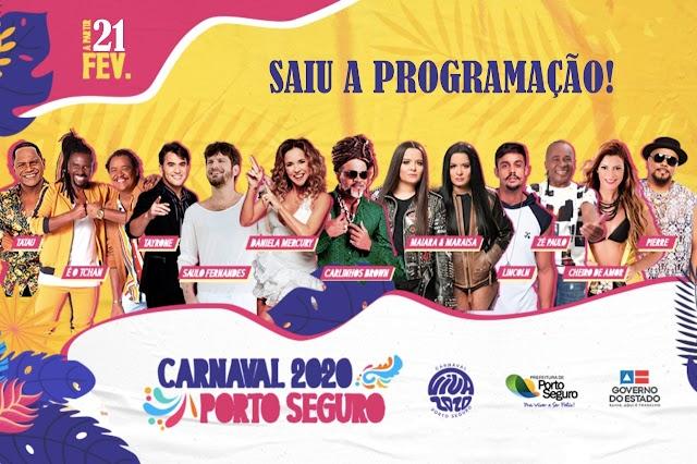 Prefeitura de Porto Seguro anuncia programação do Carnaval 2020
