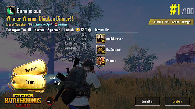Cara Mudah Chicken Dinner PUBG Mobile di Mode TPP