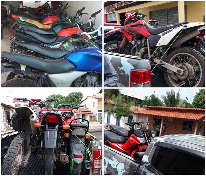 Guarda Municipal de Mata Roma e Policia Militar recuperam 10 motos roubadas