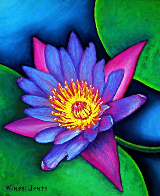 Lotus Divine by Minaz Jantz (Pastel)