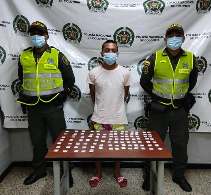 hoyennoticia.com, Cogen jíbaro en Riohacha con 100 papeletas de coca