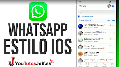 WHATSAPP iOS iPhone para Android Ultima Version 2019 - Personalizacion Whatsapp