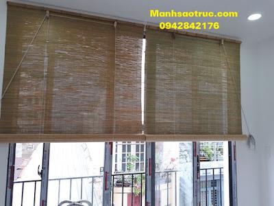 mành trúc cật tre che nắng trong nhà cửa sổ,của kính