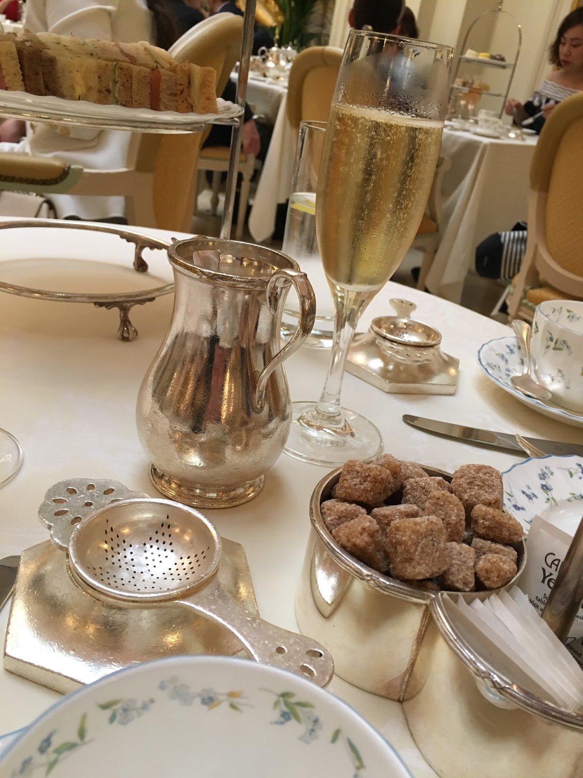 The Ritz afternoon tea London review champagne