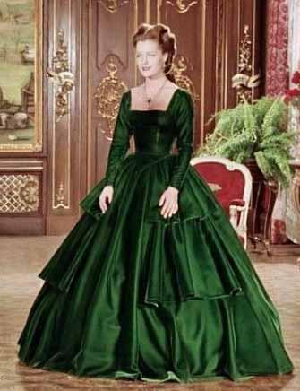 Rommy Shineider com vestido verde em Sissi
