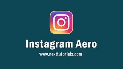 Download Instagram Mod Insta Aero v14.0.2 Apk Latest Version 2020,instaaero v14.0.2,instagram mod terbaik 2020, instamod 2020, instagram dark mode
