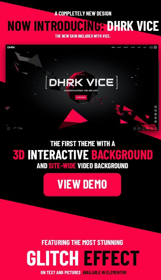 Vice Underground Music Element or WordPress Theme