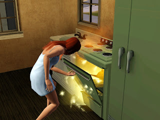 Lámpara en el horno