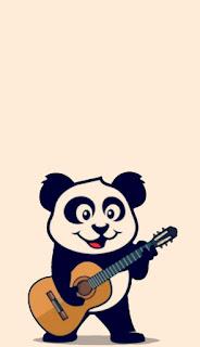 Wallpaper whatsapp Panda Keren