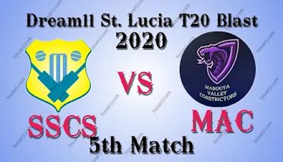 Who will win SSCS vs MAC 5th T10 Match