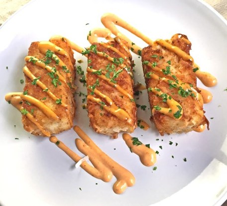 Coconut Tofu with Spicy Sauce #vegetarian #dinner