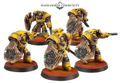 Imperial Fists Legion Cataphractii storm shields
