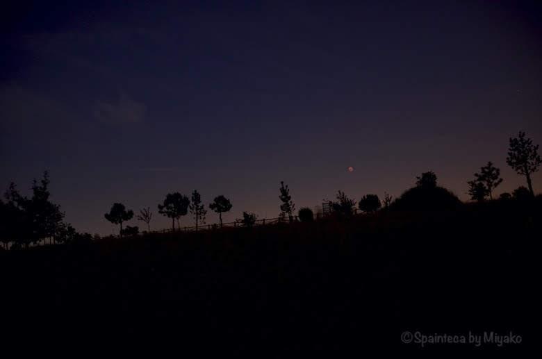 マドリードの暗闇と皆既月食