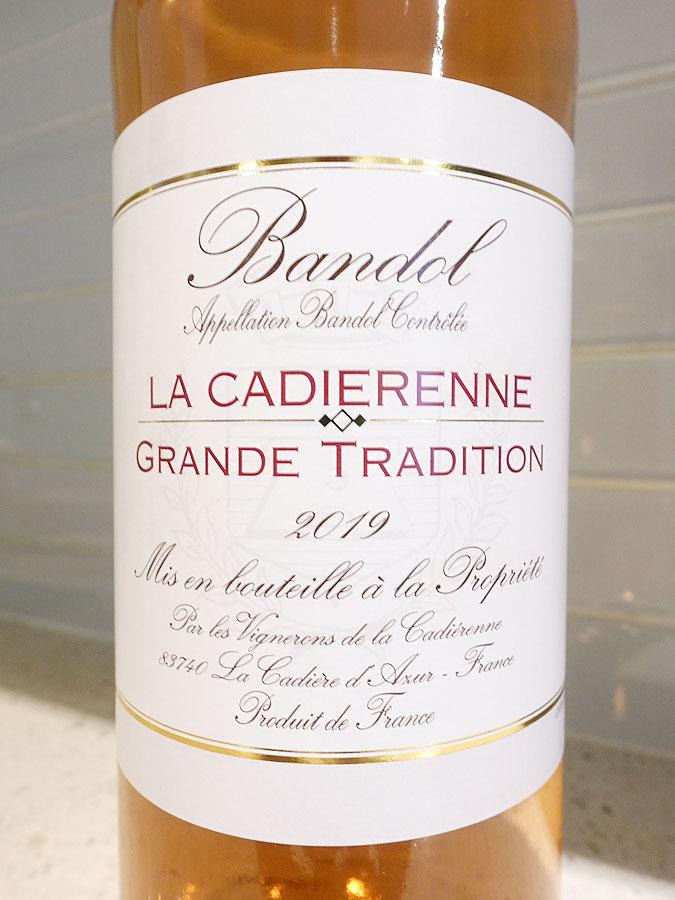 La Cadiérenne Cuvée Grande Tradition Bandol Rosé 2019 (91 pts)