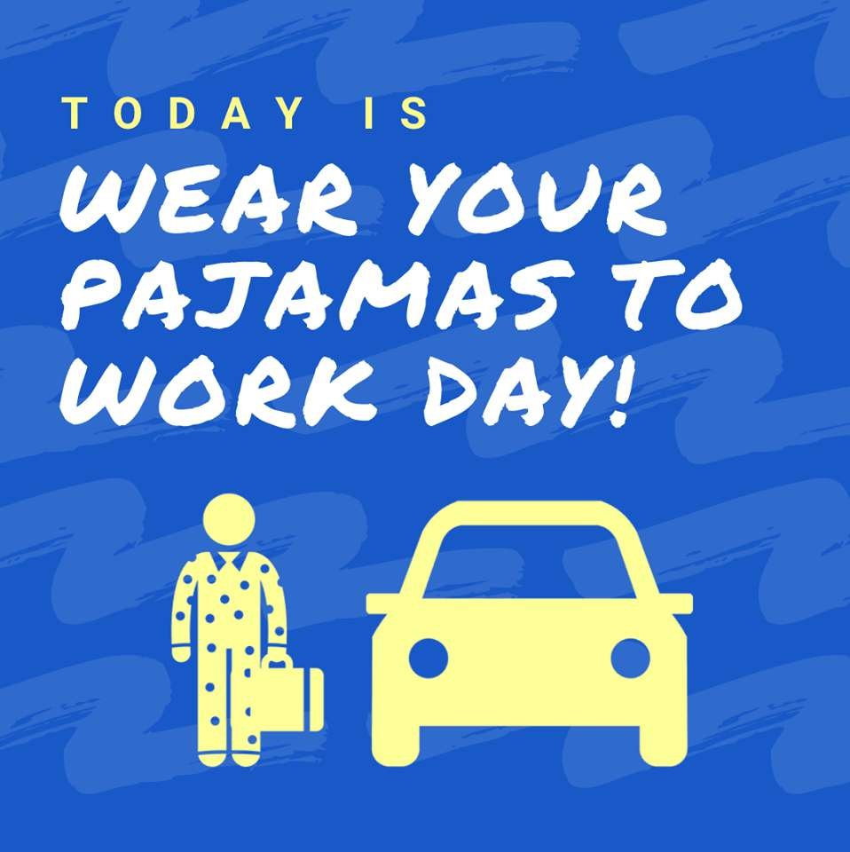 Wear Pajamas to Work Day Wishes pics free download