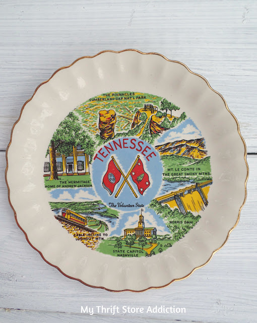 state souvenir plate Tennessee