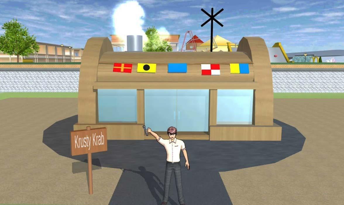 ID Krusty Krab di Sakura School Simulator