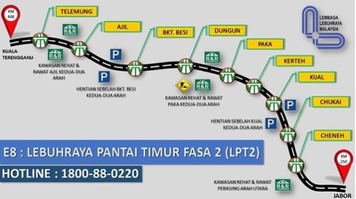 Kadar Bayaran Tol LPT2 2021 (Lebuhraya Pantai Timur 2) - MY PANDUAN