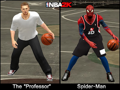 NBA2K The Professor & Spider-Man Outfit
