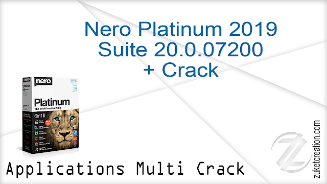 Nero Platinum 2019 Suite 20.0.07200 + Crack      434 MB