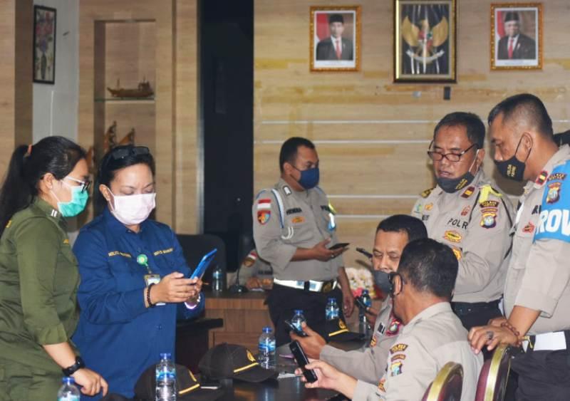 Polres Bintan Menerima Sosialisasi Aplikasi E-HAC