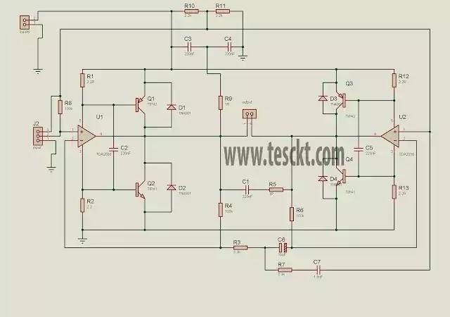 TDA2030 120 watt amplifier circuit