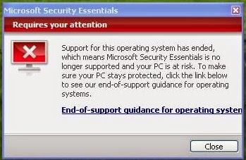 Removing the Windows XP End of Life Message 3