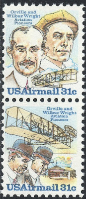 Orville And Wilbur Wright  U.S. Postage Stamps Pair