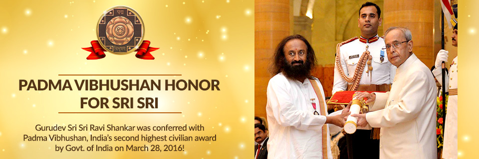 Padma Vibhushan Honor for Sri Sri
